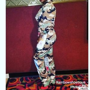 Camo jumpsuit new without tags